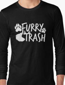 Furry Trash -white- Long Sleeve T-Shirt