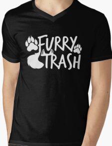 Furry Trash -white- Mens V-Neck T-Shirt