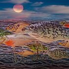 Crankbait Migration, a Photo Fantasy Montage by Randall Nyhof