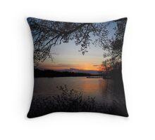 Lakeside Evening Calm Throw Pillow