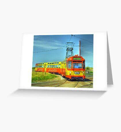 Blackpool Tram 672 Greeting Card
