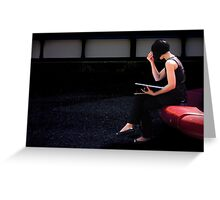 girl on a red seat Greeting Card