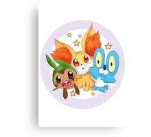 Pokemon xy starter  Canvas Print
