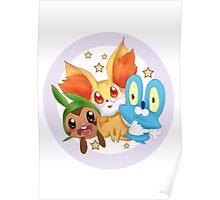 Pokemon xy starter  Poster