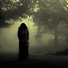 She approaches from the fog... by MJD Photography  Portraits and Abandoned Ruins