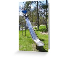 On the Slide Greeting Card