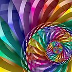 Metallic Spiral Rainbow by Pam Blackstone