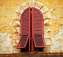Red Shutters by Rae Tucker