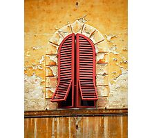 Red Shutters Photographic Print