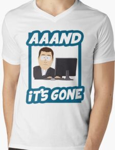 And it's gone - South Park Mens V-Neck T-Shirt