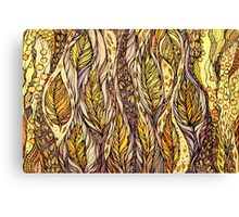 Autumn Dreams.Hand draw  ink and pen, Watercolor, on textured paper Canvas Print