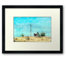 California Shack Framed Print