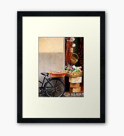 Italian Storefront Framed Print