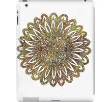 Coloring Mandala on White Background iPad Case/Skin