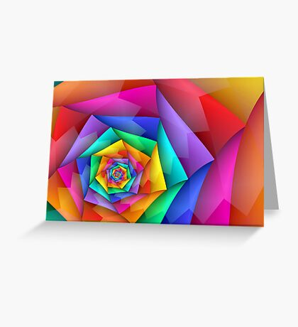 Fractured Rainbow Greeting Card