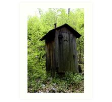 Rustic Outhouse  Art Print