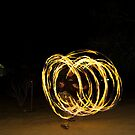 Fire Poi Dancing by Chris Morrison