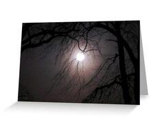 super moon Greeting Card