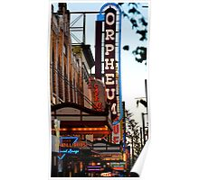 Neon Signs of Downtown Vancouver Poster
