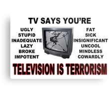 TV Terror Metal Print