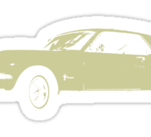 1964 ½ Ford Mustang White Coupe Sticker