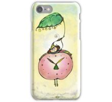 Summertime.Hand draw  ink and pen, Watercolor, on textured paper iPhone Case/Skin
