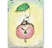 Summertime.Hand draw  ink and pen, Watercolor, on textured paper iPad Case/Skin