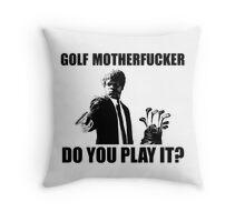 Funny Golf Shirt Throw Pillow