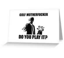 Funny Golf Shirt Greeting Card