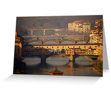 The Bridges of Florence Greeting Card