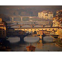 The Bridges of Florence Photographic Print