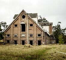 Abandoned Maltings Factory Exterior  by Adara Rosalie