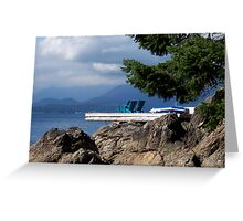 Sittin' on the Dock of the Bay... Greeting Card