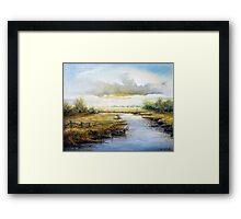 Early Morning Fisherman (1980) Framed Print