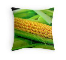 Yellow Corn Throw Pillow