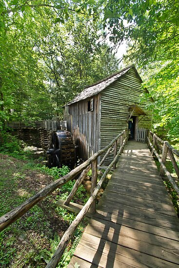 An Old Grist Mill Still in Operation by Robert H Carney