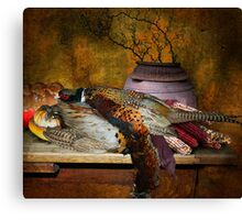 Still Life with Pheasants and Corn Canvas Print
