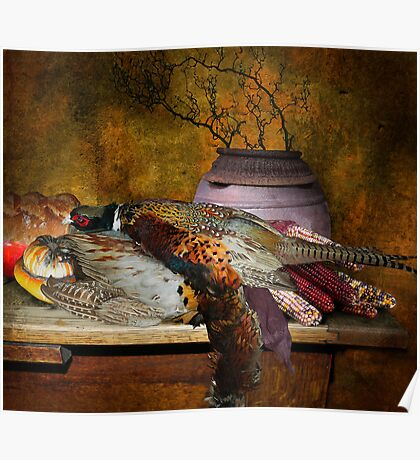Still Life with Pheasants and Corn Poster