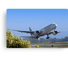 Emirates Leaving SFO Canvas Print