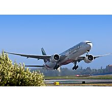 Emirates Leaving SFO Photographic Print