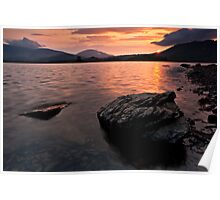Derwent Water Sunrise, Keswick, Cumbria Poster
