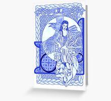 Cobalt Corbie Queen Greeting Card