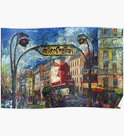 Paris Moulen Rouge Poster