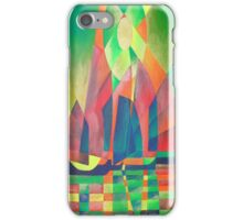 Sea of Green With Cubist Abstract Junks iPhone Case/Skin
