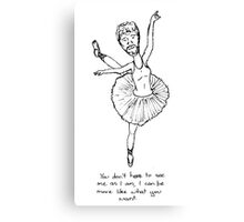 Ballerina man Canvas Print