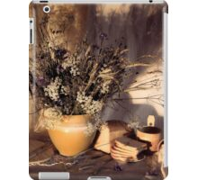 Evening still Life c with wildflowers iPad Case/Skin