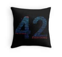Life, The Universe, and Everything Throw Pillow