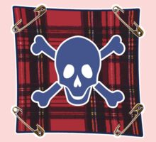 Punky Skull (blue) Kids Clothes