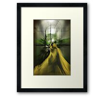 glowing statue Framed Print