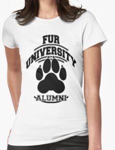 FUR UNIVERSITY -black- Womens Fitted T-Shirt